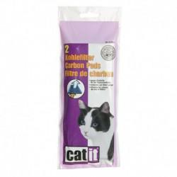 Filtres de charbon/mousse pour abreuvoir Catit 2.0 avec fleu